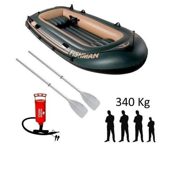 bote inflayvel barco fishman 305m com remo e inflador mor