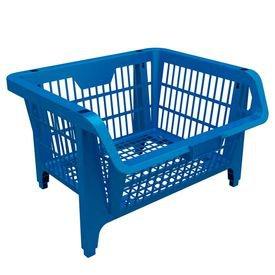 cesto expositor plastico azul 9410