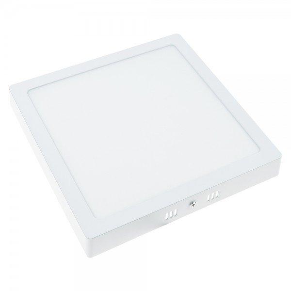 plafon sobrepor quadrado branco demi
