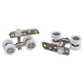 roldana 04 rodas concava com rolamento para porta 28mm 8854