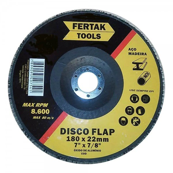 disco flap grao 180mm fertak