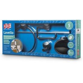 kit 05 pecas banheiro lavello herc 10448