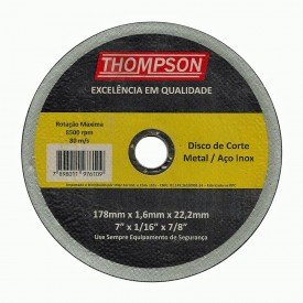 disco corte inox thompson 8657