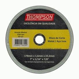 disco corte inox thompson 8657
