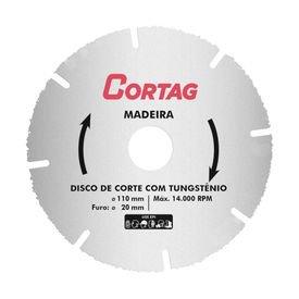 disco de corte tungstenio madeira 110mm cortag