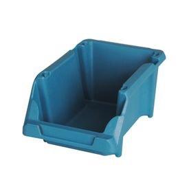 gaveta plastica empilhavel azul presto