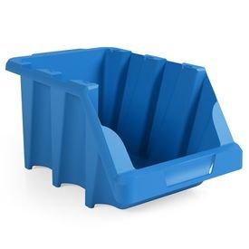 gaveta plastica empilhavel azul presto 1