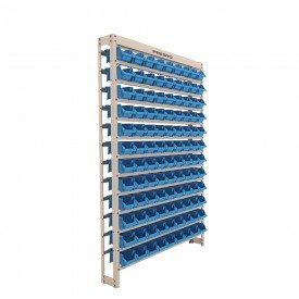 kit estante gaveteiro bege liso 108 gavetas n3 presto