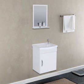 armario para banheiro siena aereo branco uma porta espelho pia rorato