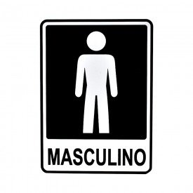 placa banheiro masculina 15 20 pacific