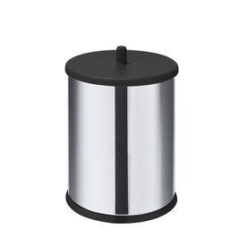 lixeira com tampa e fundo preto inox 3 2l 12056