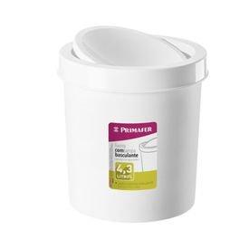 lixeira 4 3 litros branca redonda primafer