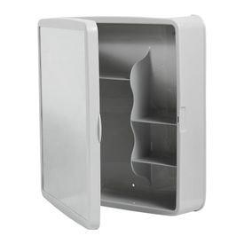 armario banheiro plastico cinza claro sintex 6352