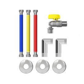 kit completo de ligacao flexivel instalacao de aquecedor a gas censi 12294