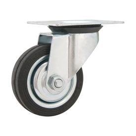 rodizio giratorio 3 76mm leve preto com roda de borracha capacidade 40kgf vonder 5614