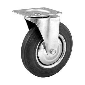 rodizio giratorio 4 101mm leve preto com roda de borracha capacidade 60kgf vonder disma 5617