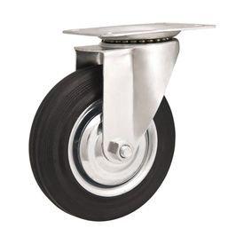 rodizio giratorio 5 127mm leve preto com roda de borracha capacidade 100kgf disma vonder 5619
