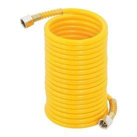 mangueira poliuretano espiral amarela 1 4 femea 7 5 metros vonder 7706