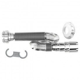 sifao tubo extensivo longo universal sanfonado 1 50 m cromado blukit 11514 3