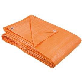 lona de polietileno laranja 100 micra com ilhos 4mx3m nove54 929