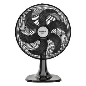 ventilador de mesa turbo 40 cm preto com 6 pas oscilante ventisol 12627 11335