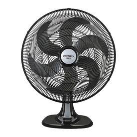 ventilador de mesa turbo 50 cm preto com 6 pas oscilante ventisol 12628 12629
