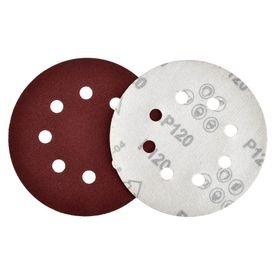 disco de lixa com velcro 125mm grao 120 com 10 pecas fertak 12673