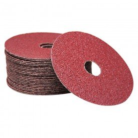 disco de lixa 115 x 22 mm grao oxido de aluminio pacote com 25 pecas fertak