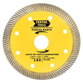 disco diamantado turbo 105x20x1 2mm para porcelanato fertak 12253