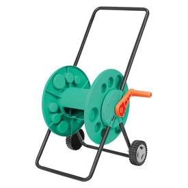 enrolador de mangueira plastico com bracos metalicos e rodinhas tramontina 12567