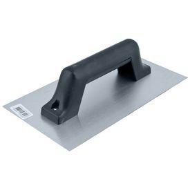 desempenadeira de aco lisa com cabo plastico 12 cm x 24 cm thompson 5285
