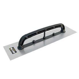 desempenadeira de aco lisa com cabo plastico 12 cm x 48 cm thompson 7288