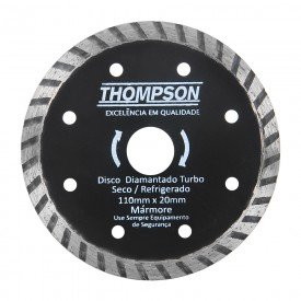 disco diamantado turbo 110 mm x 20 mm thompson 7117