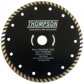 disco diamantado turbo 180 mm x 22 23 mm thompson 8355