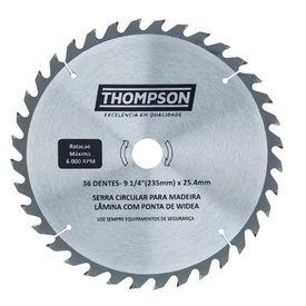 lamina de serra circular para madeira 9 1 4 36 dentes 235 mm x 25 4 mm thompson 9727