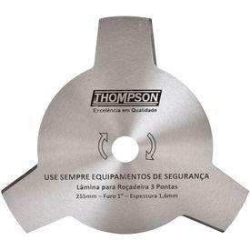 lamina para rocadeira tres pontas furo 1 pol 255 mm thompson 9913