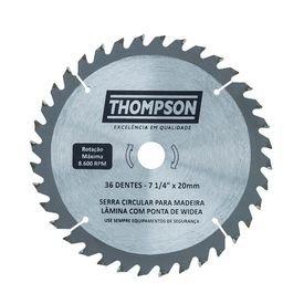 lamina de serra circular para madeira 7 1 4 36 dentes 185 mm x 20 mm thompson 8358