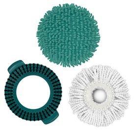 refil esfregao mop limpeza pratica 3 em 1 flash limp kit