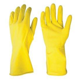 luva de latex amarela com forro tamanho deltaplus
