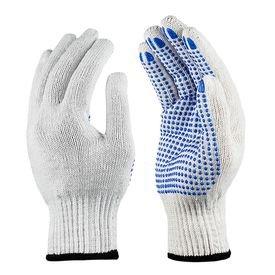 luva tricotada de algodao branca com pigmento azul tamanho 9 g deltaplus 2292