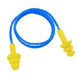 protetor auditivo com plug de copolimero reutilizavel com cordao deltaplus 1301