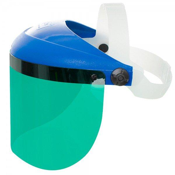 protetor facial verde com visor 08 203 mm deltaplus 6859