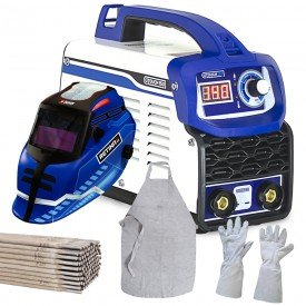 kit invesora boxer 150 mascara retira 3 0 boxer luva de raspa longa avental para solda eletrodo 10393 12723 547 4451 5172