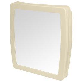 armario para banheiro de plastico bege com espelho herc 1509