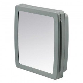 armario para banheiro de plastico cinza claro com espelho herc 4016