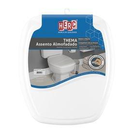 assento sanitario almofadado branco thema premium herc 12745