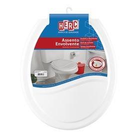assento para vaso sanitario universal oval branco envolvente ideale herc 11302