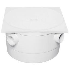 caixa sifonada branca com tampa quadrada 250 mm x 150 mm x 50 mm herc 5467
