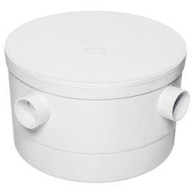 caixa sifonada branca com tampa redonda 250 mm x 150 mm x 50 mm herc 1823