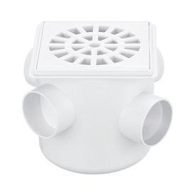 caixa sifonada branca com grelha quadrada 100 mm herc